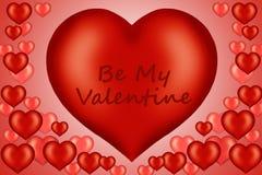 Ilustración de la tarjeta de la tarjeta del día de San Valentín Foto de archivo libre de regalías