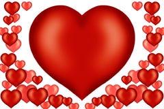 Ilustración de la tarjeta de la tarjeta del día de San Valentín Foto de archivo