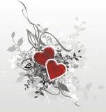 Ilustración de la tarjeta de las tarjetas del día de San Valentín Foto de archivo libre de regalías