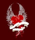 Ilustración de la tarjeta del día de San Valentín Stock de ilustración