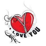 Ilustración de la tarjeta del día de San Valentín Imagen de archivo libre de regalías