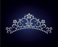 Ilustración de la tiara del diamante Imagenes de archivo