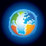 Ilustración de la tierra del planeta Ilustración del Vector