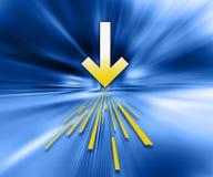 Ilustración de la transferencia directa ilustración del vector