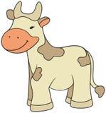 Ilustración de la vaca del estilo de la historieta Imágenes de archivo libres de regalías