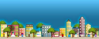 Ilustración de la vecindad Imagen de archivo