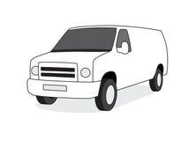 Ilustración de la vista delantera de la furgoneta de salida Imágenes de archivo libres de regalías