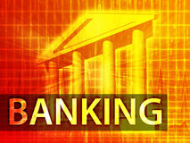Ilustración de las actividades bancarias Imagen de archivo