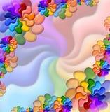 Ilustración de las flores del arco iris Foto de archivo