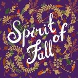Ilustración de las hojas de otoño Foto de archivo