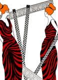 Ilustración de las mujeres romanas   Fotografía de archivo libre de regalías
