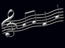 Ilustración de las notas musicales Fotografía de archivo libre de regalías