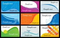 Ilustración de las tarjetas de visita Imagen de archivo libre de regalías