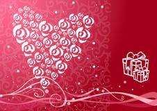 Ilustración de las tarjetas del día de San Valentín Fotos de archivo