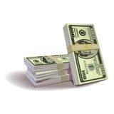 Ilustración de los billetes de banco del dólar, th financiero Imágenes de archivo libres de regalías