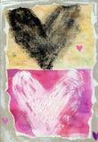 Ilustración de los corazones Fotografía de archivo libre de regalías
