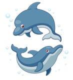 Ilustración de los delfínes de la historieta libre illustration
