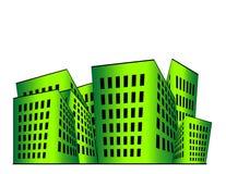 Ilustración de los edificios Imagenes de archivo