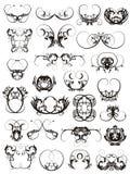 Ilustración de los elementos del diseño del tatuaje Fotografía de archivo libre de regalías