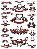 Ilustración de los elementos del diseño del tatuaje Imagen de archivo libre de regalías