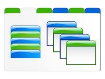 Ilustración de los elementos del Web fotografía de archivo