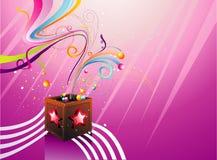 Ilustración de los fondos de los regalos Imagen de archivo libre de regalías