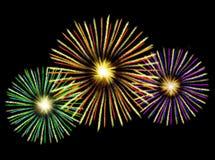 Ilustración de los fuegos artificiales Imágenes de archivo libres de regalías