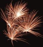 Ilustración de los fuegos artificiales Ilustración del Vector