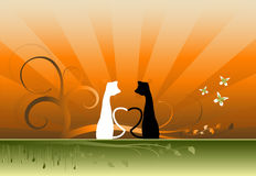 Ilustración de los gatos Imagen de archivo
