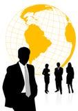 Ilustración de los hombres y de las mujeres de negocios ilustración del vector
