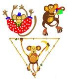 Ilustración de los monos Imagenes de archivo