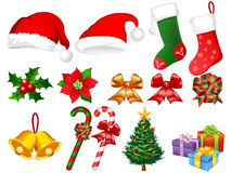 Ilustración de los ornamentos de Navidad Imagen de archivo