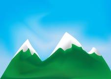Ilustración de montañas Fotos de archivo libres de regalías