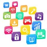 Ilustración de muchas aplicaciones Fotos de archivo libres de regalías