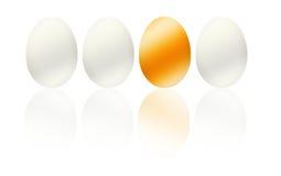 Ilustración de oro del asunto del huevo, beneficio, pascua Imagen de archivo libre de regalías