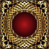 Ilustración de oro del ornamental circle Fotografía de archivo libre de regalías
