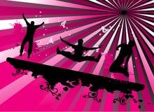 Ilustración de salto de la gente ilustración del vector