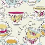 Ilustración de tazas y de platillos Fotos de archivo libres de regalías