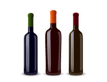 Ilustración de tres botellas de vino Fotos de archivo libres de regalías