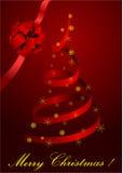 Ilustración de un árbol de navidad rojo metafórico libre illustration