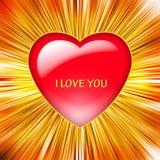 Ilustración de un corazón rojo Foto de archivo libre de regalías
