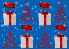 Ilustración de un fondo azul de la Navidad libre illustration