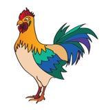 Ilustración de un gallo Stock de ilustración