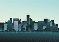Ilustración de un paisaje urbano Imagen de archivo