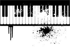 Ilustración de un piano del grunge ilustración del vector
