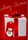 Ilustración de un rectángulo del regalo de Navidad stock de ilustración