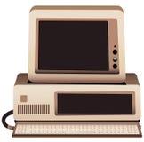 Ilustración de un viejo sistema informático ilustración del vector