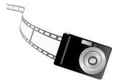 Ilustración de una cámara y de un filmstrip de la foto libre illustration