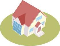 Ilustración de una casa aislada Imagen de archivo