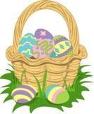 Ilustración de una cesta de pascua Foto de archivo libre de regalías